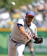 CHICAGO - JULY 02:  Ernesto Frieri #49 of the Texas Rangers pitches against the Chicago White Sox on July 2, 2017 at Guaranteed Rate Field in Chicago, Illinois.  The White Sox defeated the Rangers 6-5.  (Photo by Ron Vesely) Subject:   Ernesto Frieri