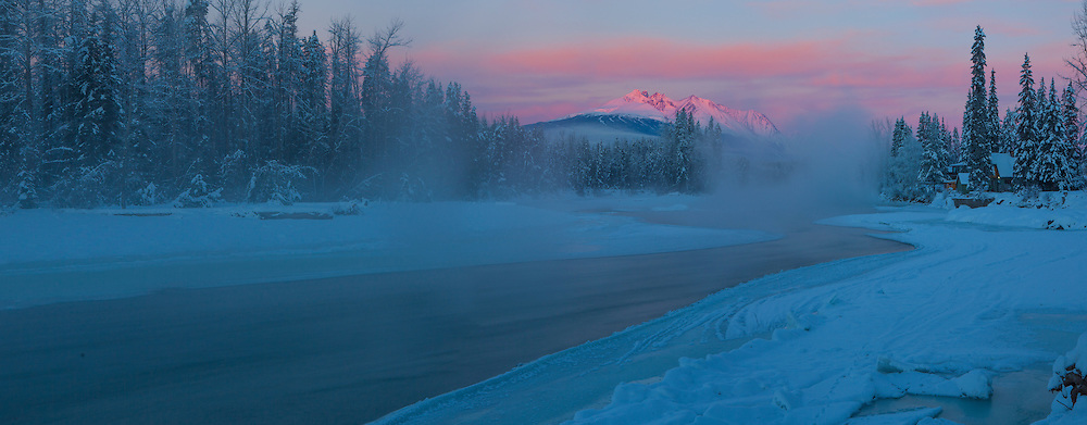 Telkwa sunrise on Bulkley River