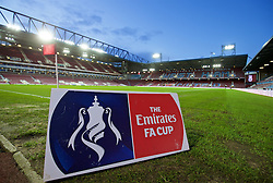 LONDON, ENGLAND - Tuesday, February 9, 2016: A general view of Upton Park before the FA Cup 4th Round Replay match between West Ham United and Liverpool. (Pic by David Rawcliffe/Propaganda)