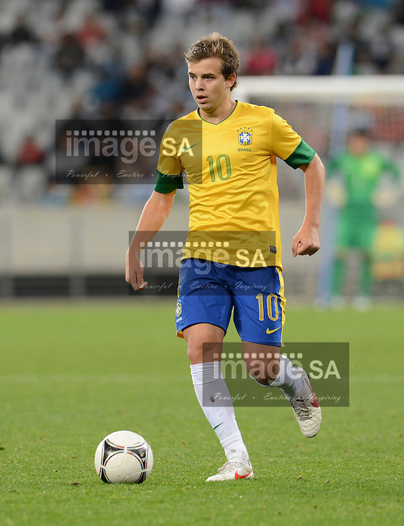 CAPE TOWN, SOUTH AFRICA: Sunday 3 June 2012, THOMAS ANDRADE SANTOS of Brasil during the final of the under 20 Cape Town International Soccer Challenge between Argentina and Brazil at the Cape Town Stadium..Photo by Roger Sedres/ImageSA