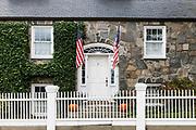 Charming home exterior, Stonington, Connecticut, USA.