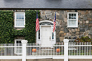 Charming home exterior, Stonington, Connecticut, USA.