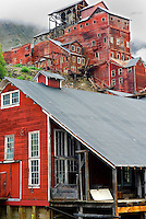 Historic buildings of the Kennecott Copper Mine townsite. Wrangell-St. Elias National Park Alaska