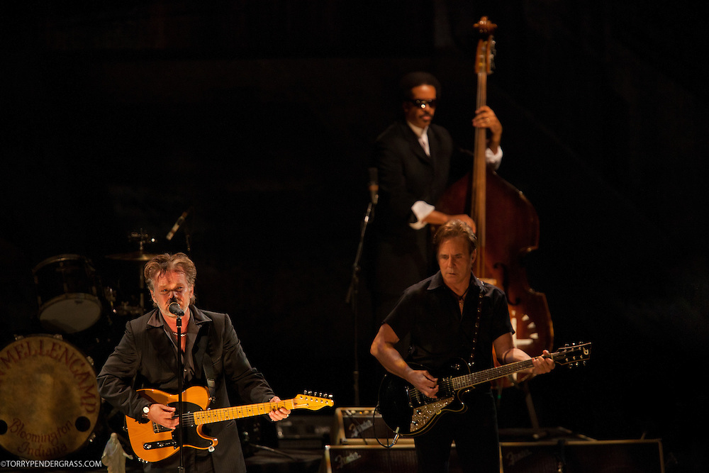 """John Mellencamp performs on April 8, 2011 in support of """"No Better Than This"""" at Nokia Theatre in Los Angeles, California"""