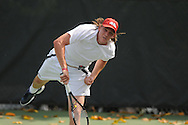 Mississippi's Tucker Vorster vs. Ohio State in tennis action at the Palmer-Salloum Tennis Complex at Ole Miss in Oxford, Miss. on Wednesday, April 13, 2010.