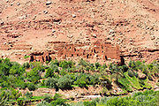 Berber Village, Ounila Valley (connecting Ait BenHaddou to Telouet Kasbah) Ouarzazate Province, Morocco Morocco, 2016-04-23.&nbsp;<br />