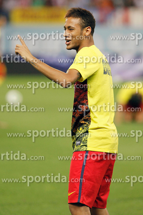 21.08.2013, Estadio Vicente Calderon, Madrid, ESP, Supercup, Atletico Madrid vs FC Barcelona, im Bild FC Barcelona's Neymar Santos Jr // during during the Spanish Supercup match between Club Atletico de Madrid and Barcelona FC at the Estadio Vicente Calderon, Madrid, Spain on 2013/08/21. EXPA Pictures &copy; 2013, PhotoCredit: EXPA/ Alterphotos/ Ricky Blanco<br /> <br /> ***** ATTENTION - OUT OF ESP and SUI *****