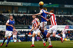 Gwion Edwards of Ipswich Town heads the ball clear - Mandatory by-line: Phil Chaplin/JMP - 16/02/2019 - FOOTBALL - Portman Road - Ipswich, England - Ipswich Town v Stoke City - Sky Bet Championship