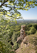Devil's chimney made from Lower Freestone above a disused quarry in Leckhampton on the outskirts of Cheltenham