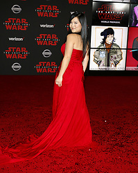 Kelly Marie Tran at the World premiere of 'Star Wars: The Last Jedi' held at the Shrine Auditorium in Los Angeles, USA on December 9, 2017.