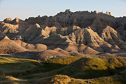 General view of rock formations, Badlands National Park, South Dakota, United States of America