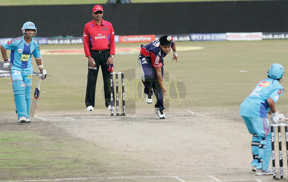 CENTURION, SOUTH AFRICA - 21 May 2009. Daredevils player Rajat Bhatia in action  during the DLF IPL Season 2 match between the Mumbai Indians and the Delhi Daredevils held at Supersport Park  in Centurion, South Africa..