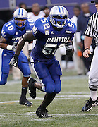 Hampton's Justin Durant (52) had 10 tackles during the 2006 New York Urban League Classic between Hampton and Morgan State at Giants Stadium in East Rutherford, New Jersey.  Hampton won 26-7.  September 23, 2006  (Photo by Mark W. Sutton)