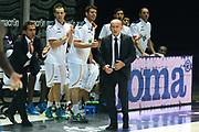 DESCRIZIONE : Bologna campionato serie A 2013/14 Acea Virtus Roma Enel Brindisi <br /> GIOCATORE : Luca Dalmonte Federico Fuca<br /> CATEGORIA : allenatore coach<br /> SQUADRA : Acea Virtus Roma<br /> EVENTO : Campionato serie A 2013/14<br /> GARA : Acea Virtus Roma Enel Brindisi<br /> DATA : 20/10/2013<br /> SPORT : Pallacanestro <br /> AUTORE : Agenzia Ciamillo-Castoria/GiulioCiamillo<br /> Galleria : Lega Basket A 2013-2014  <br /> Fotonotizia : Bologna campionato serie A 2013/14 Acea Virtus Roma Enel Brindisi  <br /> Predefinita :