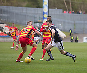 Dundee&rsquo;s Cammy Kerr runs at Partick Thistle&rsquo;s Christie Elliot - Partick Thistle v Dundee, Ladbrokes Premiership at Firhill<br /> <br /> <br />  - &copy; David Young - www.davidyoungphoto.co.uk - email: davidyoungphoto@gmail.com