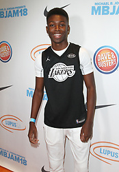 Michael B. Jordan and Lupus LA's 2nd Annual MBJAM18 at Dave & Busters in Hollywood, California on 7/28/18. 28 Jul 2018 Pictured: Niles Fitch. Photo credit: River / MEGA TheMegaAgency.com +1 888 505 6342