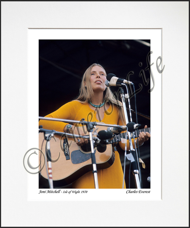 Joni Mitchell - An affordable archival quality matted print ready for framing at home.<br />