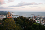 A view of Viana do Castelo with Santa Luzia in the foreground.