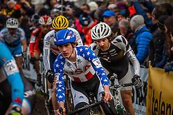 Zach MCDONALD (18, USA) 1st lap at Men UCI CX World Championships - Hoogerheide, The Netherlands - 2nd February 2014 - Photo by Pim Nijland / Peloton Photos