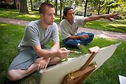 Painting Class...Leland Palmer & Alberto Torres Cerrato (right)