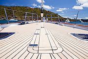 Onboard S/Y Destination Fox Harb'r at anchor in St. Barth's.