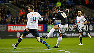 John Swift of Brentford scores the opening goal during the Sky Bet Championship match between Bolton Wanderers and Brentford at the Macron Stadium, Bolton<br /> Picture by Mark D Fuller/Focus Images Ltd +44 7774 216216<br /> 30/11/2015