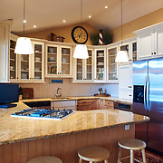 AVALON, NJ - JUNE 10, 2017: The extended height kitchen on the first floor. 4738 Ocean Dr, Avalon, NJ. Credit: Albert Yee for the New York Times