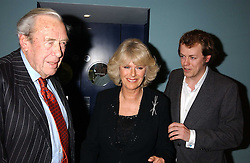 Left to right, BRUCE SHAND, his daughter CAMILLA PARKER BOWLES and her son TOM PARKER BOWLES at a party to celebrate the publication of 'E is for Eating' by Tom Parker Bowles held at Kensington Place, 201 Kensington Church Street, London W8 on 3rd November 2004.<br /><br />NON EXCLUSIVE - WORLD RIGHTS