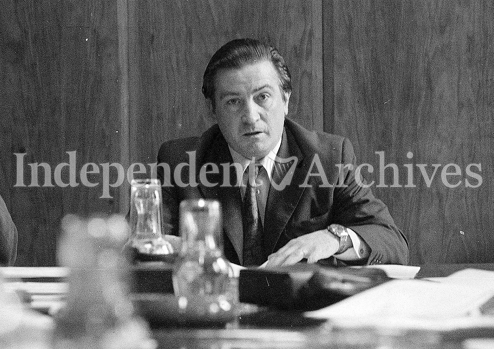 Justin Keating was once minister for industry and commerce file 1973 <br /> (Part of the Independent Newspapers Ireland/NLI Collection)