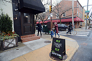 Patrons enter for brunch at Pub & Kitchen Sunday, February 04, 2018 in Philadelphia, Pennsylvania. The pub added Bleeding Green Bloody Marys and Crispy Fried Brady Chicken to the menu. WILLIAM THOMAS CAIN / For The Inquirer