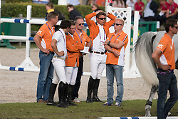 Dubbeldam Jeroen, (NED), Van Der Vleuten Maikel, (NED)<br /> Team completion and 2nd individual qualifier<br /> FEI European Championships - Aachen 2015<br /> © Hippo Foto - Jon Stroud<br /> 20/08/15