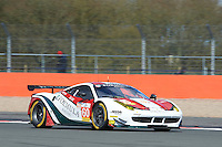 Johnny Laursen (DNK) / Mikkel Mac (DNK) / Christina Nielsen (DNK)  #60 Formula Racing, Ferrari 458 Italia GT2, Ferrari 4.5 L V8, during the Race  as part of the ELMS 4 Hours of Silverstone 2016 at Silverstone, Towcester, Northamptonshire, United Kingdom. April 16 2016. World Copyright Peter Taylor. Copy of publication required for printed pictures.