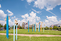 Exterior Photo of Pop Up Park at Discovery District in College Park Maryland by Jeffrey Sauers of Commercial Photographics, Architectural Photo Artistry in Washington DC, Virginia to Florida and PA to New England