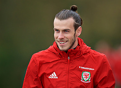 CARDIFF, WALES - Thursday, March 23, 2017: Wales' Gareth Bale arrives for a training session at the Vale Resort ahead of the 2018 FIFA World Cup Qualifying Group D match against Republic of Ireland. (Pic by David Rawcliffe/Propaganda)