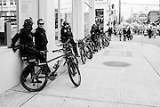 Police escort. MLK Day Rally and March. Seattle, WA. January 16, 2017.