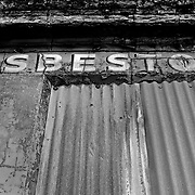 An abandoned asbestos companies office building adjacent to the port in Liverpool where asbestos was unloaded for use in England.  Asbestos is banned in England and throughout the European Union.