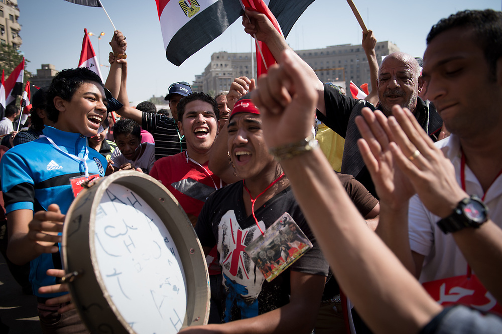 Opponents of President Morsi gather at Tahrir Square to demand his resignation. Cairo, Egypt, July 3, 2013