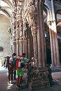 SPAIN, GALICIA, SANTIAGO Cathedral; 'Portico de la Gloria'