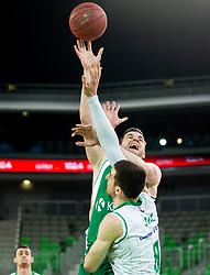 Dino Cinac of Krka during basketball match between KK Petrol Olimpija and KK Krka in Round #6 of Liga Nova KBM za prvaka 2018/19, on April 5, 2019, in Arena Stozice, Ljubljana, Slovenia. Photo by Vid Ponikvar / Sportida
