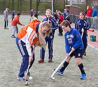 MEERSSSEN - Funkey Fiesta op Hockeyclub HV Meerssen. Jeugdinternational Sian Keil deed mee. FOTO KOEN SUYK