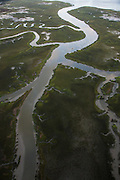 Aerial view of Molasses Creek in Mt Pleasant, SC