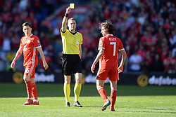 March 24, 2019 - Cardiff, United Kingdom - Joe Allen during the UEFA European Championship Group E Qualifying match between Wales and Slovakia at the Cardiff City Stadium, Cardiff on Sunday 24th March 2019. (Credit Image: © Mi News/NurPhoto via ZUMA Press)