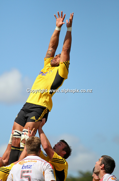 Hurricane's Victor Vito during the preseason Super Rugby match between the Hurricanes and the Chiefs, Mangatainoka Rugby Football Club, Mangatainoka,  New Zealand. Saturday, 16 February, 2013. Photo: Bethelle McFedries / photosport.co.nz