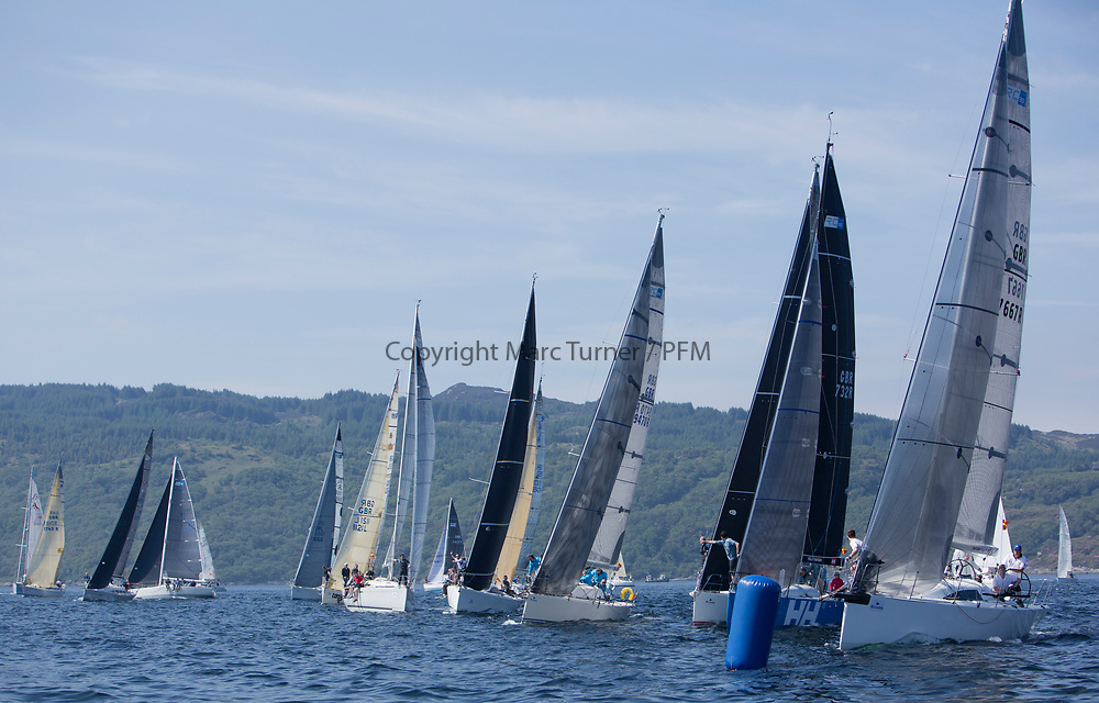 Silvers Marine Scottish Series 2017<br /> Tarbert Loch Fyne - Sailing<br /> <br /> RC35 Fleet Start