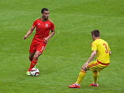 CARDIFF, WALES - Friday, June 5, 2015: Wales' Hal Robson-Kanu during a practice match at the Cardiff City Stadium ahead of the UEFA Euro 2016 Qualifying Round Group B match against Belgium. (Pic by David Rawcliffe/Propaganda)