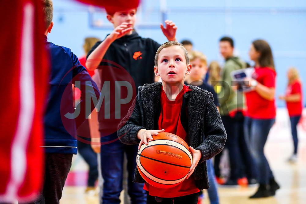 Half time free throw comp - Rogan/JMP - 11/11/2017 - BASKETBALL - SGS Wise Arena - Bristol, England. - Bristol Flyers v Glasgow Rocks - British Basketball League.