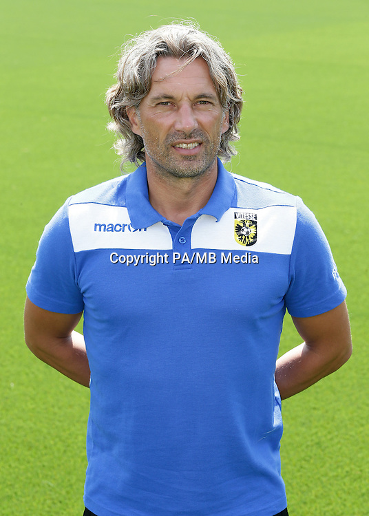 Assistant trainer Rob Maas during the team presentation of Vitesse Arnhem on July 6, 2015 at the Papendal training complex in Arnhem, The Netherlands.