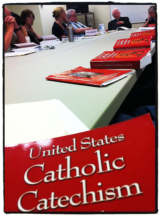 U.S. Catholic Catechism for Adults study session. (Sam Lucero photo)
