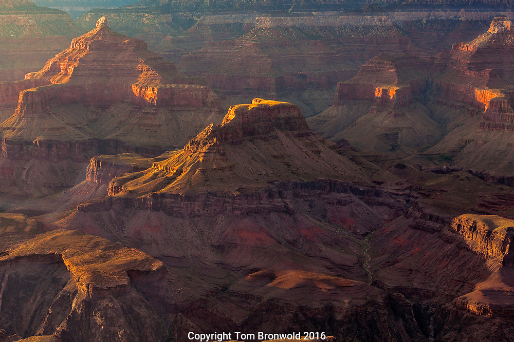 Inner Grand Canyon with a summer sunset
