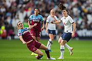 Lucy Quinn (Tottenham Hotspur) attempt at goal during the FA Women's Super League match between West Ham United Women and Tottenham Hotspur Women at the London Stadium, London, England on 29 September 2019.